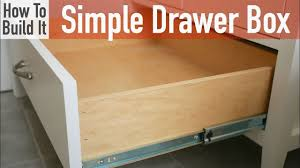 kitchen cabinet drawer boxes unique how to build a simple drawer box