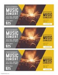 6 070 Customizable Design Templates For Concert Ticket Postermywall