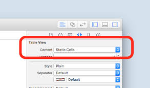 plain table chart. Once We Have Configured Our Table View As \u201cstatic\u201d, Drag-and-drop First Cell. Then, Configure Its Content By Adding A Subview, Plain Chart