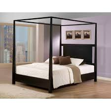 Bedroom California King Size Canopy Bed Which Furnished Solid Wood ...
