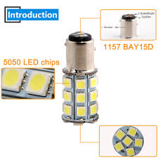 Us 7 97 14 Off 4x Dc 12v 1157 Bay15d 5050 27 Smd P21 5w Led Chip Bulb Brake Backup Signal Parking Tail Turn Car Lamp Light Quality 2397 In Signal