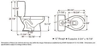 dimensions of standard toilet. toilet dimensions - google search of standard t