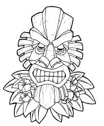 Small Picture Tiki Mask Coloring Page Coloring Home