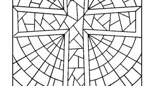 Stained Glass Cross Coloring Page Ebrokerageinfo