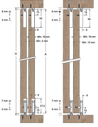 saheco sf 25 wardrobe sliding door gear dimensions