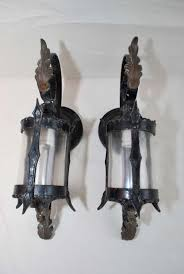 Wrought Iron Sconces Exterior Sconces Ideas With Two Antique Pair - Exterior sconce lighting