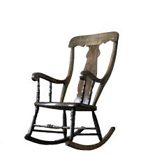 antique solid wood rocking chair