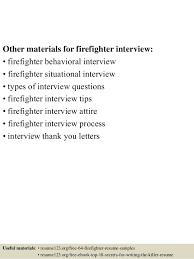 Firefighter Resume Templates Resume Template Sample