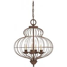 bronze rustic ceiling pendant with open