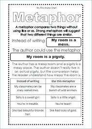 My Mini Anchor Chart 30 Inquisitive Similes And Metaphors Anchor Chart