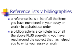 citations and bibliographies ppt video online  reference lists v bibliographies