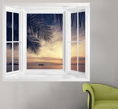 sunset beach window 1