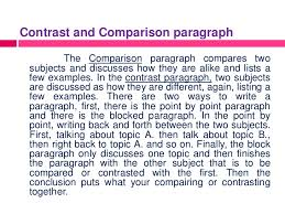 paragraph contrast and comparison