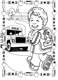 Small Picture First Day Of School Coloring Pages chuckbuttcom