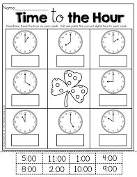 Time Hour Worksheets Kindergarten Worksheets for all | Download ...