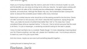 Season Greeting Letter How To Write Cover Letter Badass Resume Pany