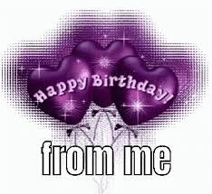 Happy Birthday From Me Purple Gif Happybirthdayfromme Purple