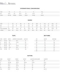 Tommy Bahama Shoe Size Chart Steven Alan Sizing Charts Buck Zinkos