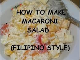 cook macaroni salad filipino style