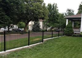 clever wrought iron fence on hill how to diy install iron fence or aluminum fence on a hill