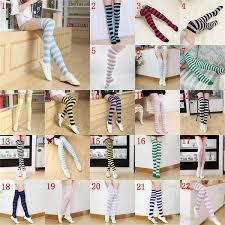 Striped Knee High Socks For Big Girls Adult Japanese <b>Style</b> Zebra ...
