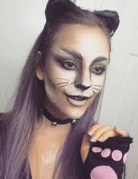 black and white diy cat makeup