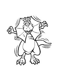 Grappige Dino Kleurplaat Voor Kids