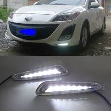 Blue Thermometer Light Mazda 3 Us 35 26 14 Off Car Flashing 1set Drl For Mazda 3 Mazda3 2010 2011 2012 2013 Led Drl Daytime Running Lights Daylight Fog Light Cover Yellow Blue In