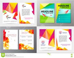 Vector Set Of Document Letter Or Logo Style Cover Brochure And