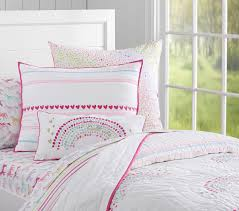 Pottery Barn Girls Bedrooms Rainbow Quilted Bedding Pottery Barn Kids