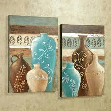 teal and brown wall art exotic vases wall art set brown set of two teal and brown metal wall art on green and brown metal wall art with teal and brown wall art exotic vases wall art set brown set of two