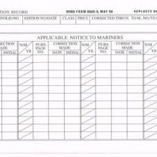 Chart Pub Correction Record 8660 9 Qty 100
