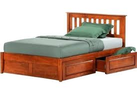 Twin Bed Frame With Storage Twin Platform Bed Country Style ...