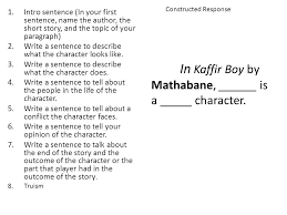 english ii world literature ppt video online  in kaffir boy by mathabane is a character