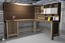 Garage Workbench Plans And Patterns New GarageShop Corner Lshape Workbench Design Woodworking Talk