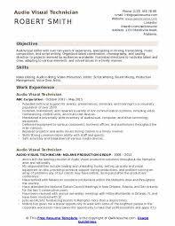 Audio Resume Audio Visual Technician Resume Samples Qwikresume