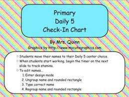 Primary Flip Charts Primary Daily 5 Check In Flip Chart