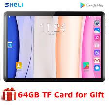2020 Mới Nhất Máy Tính Bảng 10 Inch PC 32GB ROM Dual SIM Thẻ Android 9.0  GPS WIFI GPS Máy Tính Bảng máy Tính 10 10.1