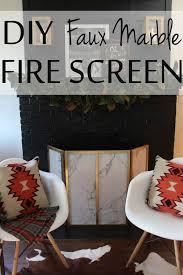 diy faux marble fire screen tutorial