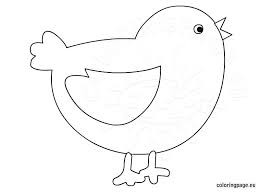 Small Picture Baby chick coloring page for kids Coloring Page