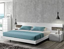 modern platform bed. Interesting Platform White Lacquered Modern Platform Bed Inside F