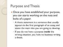 the writing process pp discuss purpose analyze diagnostic  5 purpose and thesis