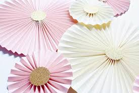 Paper Rosette Flower Paper Rosettes Paper Pinwheels Wedding Backdrop Blush Wedding
