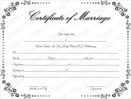 Wedding Certificate Template Mesmerizing Wedding Certificate Template 48 Free PSD AI Vector PDF Format