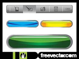 Website Navigation And Buttons Vector Art Graphics