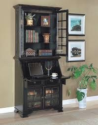 antique black classic secretary desk w optional hutch for plans 6
