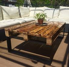 outdoor coffee table w black