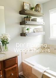 diy floating wood shelves easy way to add storage and decor to