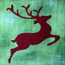 309 best Christmas Quilts images on Pinterest | Quilt block ... & free pattern = Rudolph (reindeer) by Lyn Brown. 2014