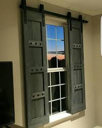 Rustic Wooden Shutters - Barn Window Treatments - www.